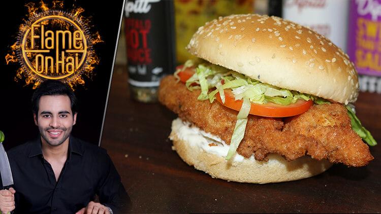 Chicken Schnitzel Burger Recipe Basim Akhund Masala Tv