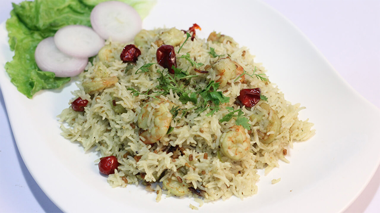 Jheenga Pulao Recipe | Quick Recipe