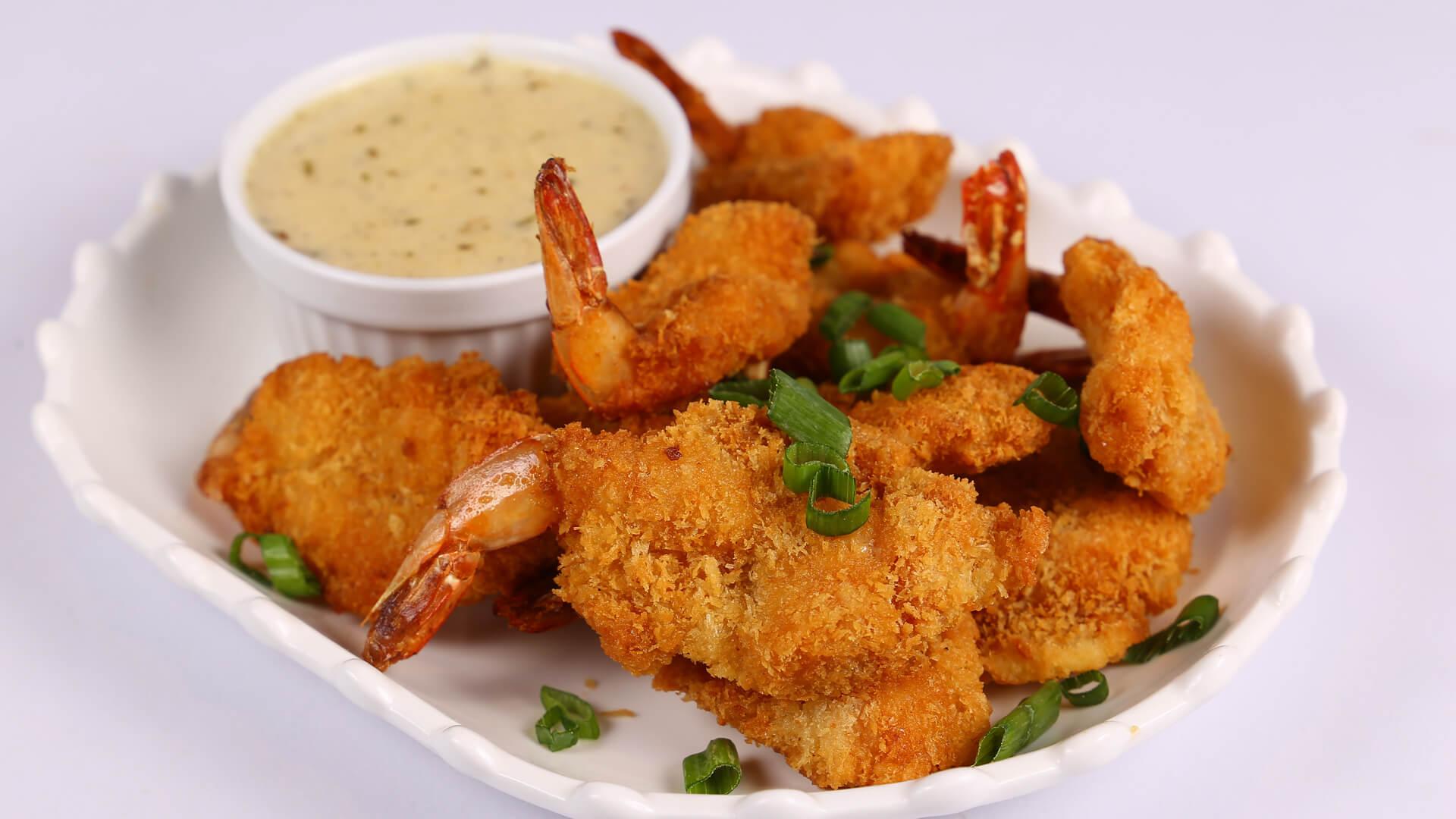 Fried Shrimp with white sauce | Tarka | Chef Rida Aftab