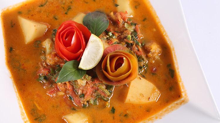 Thai Red Curry With Vegetables | Dawat | Abida Baloch