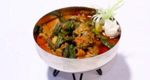 Bhindi Aalu Gosht Recipe