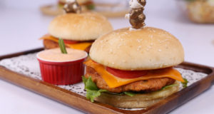 Cheesy Tandoori Burger | Quick Recipe