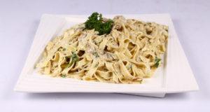 Creamy Mushroom Fettuccine Recipe | Dawat