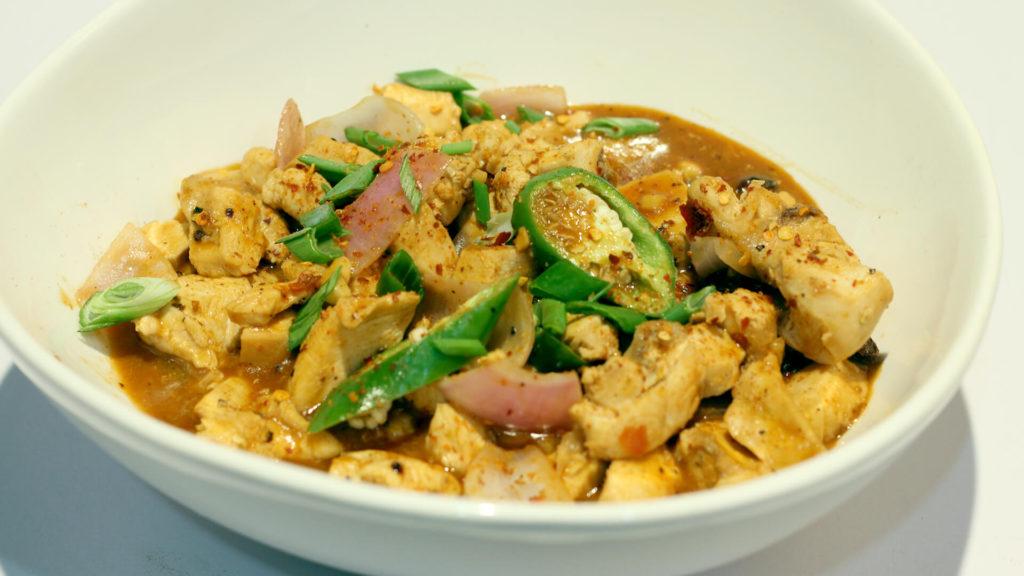 Dry Chili Chicken   Tarka