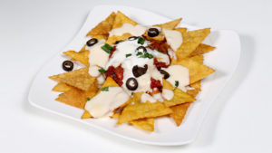 Nachos With Salsa And Cheese Sauce