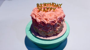 Pink Ombre Cake with Buttercream Roses   Bake At Home