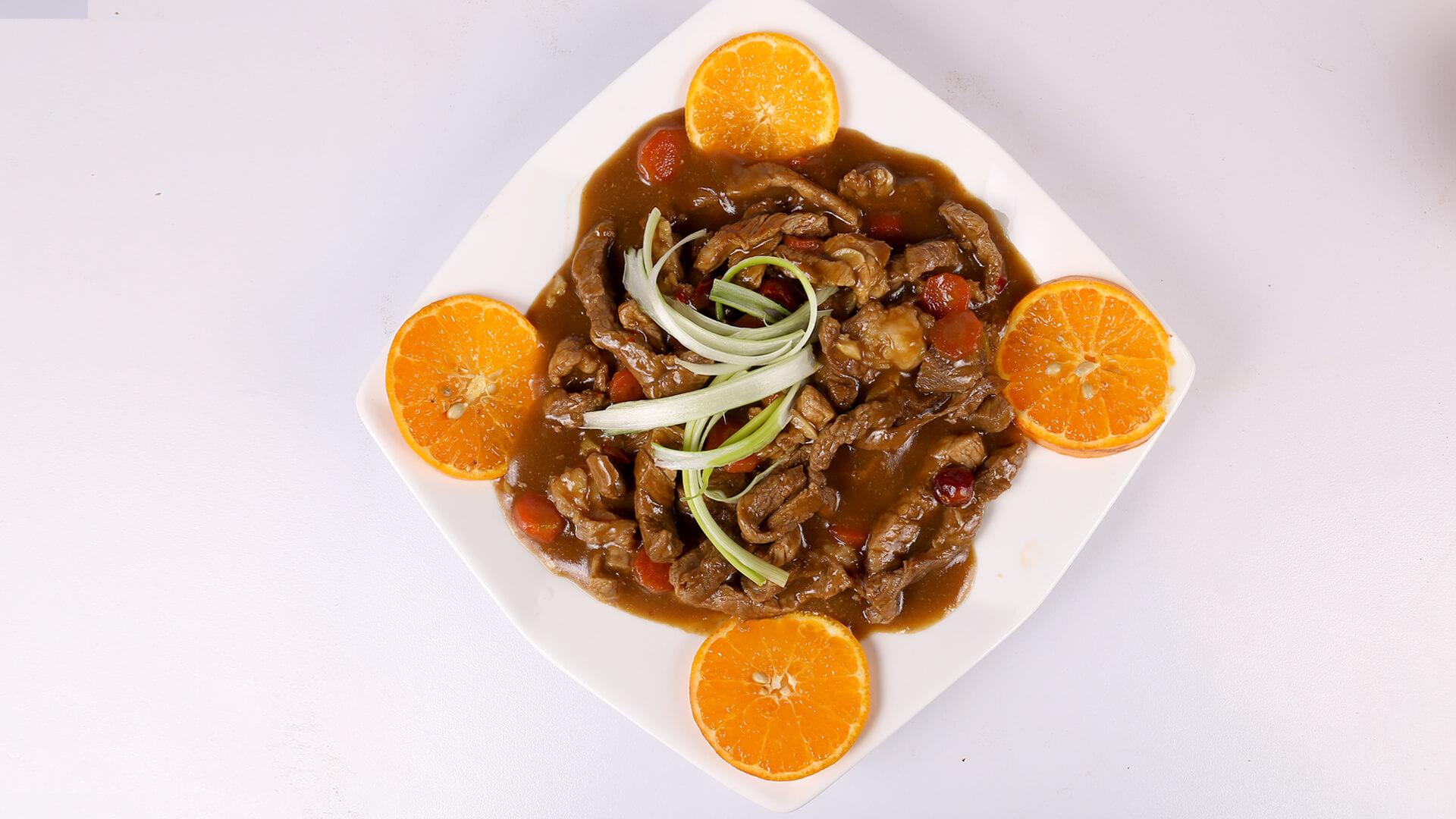 Spicy Orange Beef   Dawat