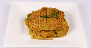 Spicy Omelette Waffles | Food Diaries