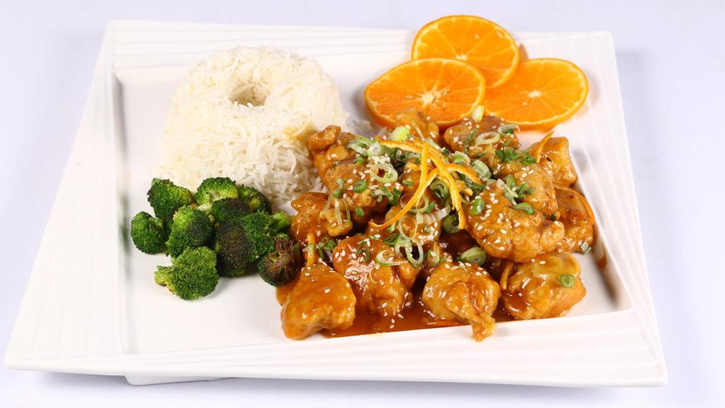 Sticky Orange Ginger Chicken | Lazzat
