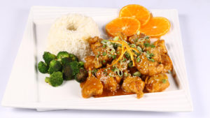 Sticky Orange Ginger Chicken | Lazzat
