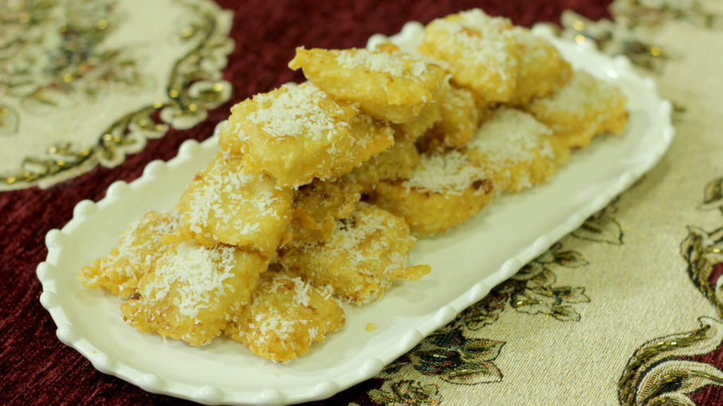 Coconut Custard Squares Recipe | Evening With Shireen