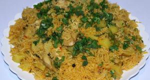Aalu Matar Chicken Ki Tahiri Recipe
