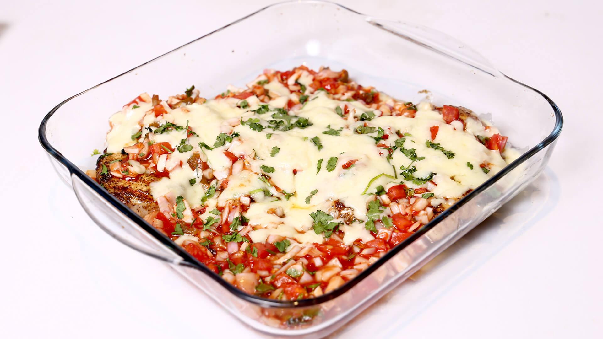 Cheesy Salsa Chicken Casserole Recipe