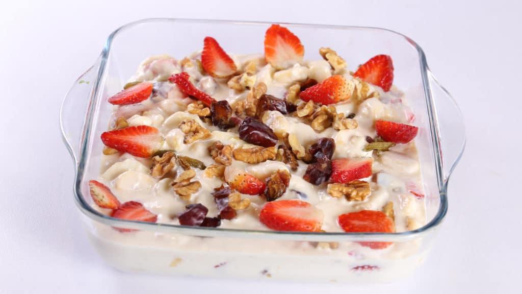 Creamy Fruit Salad Recipe | Tarka