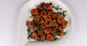 Eggplant Pizza Bites Recipe | Dawat
