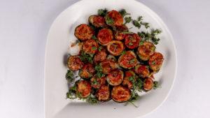 Eggplant Pizza Bites Recipe | Dawat