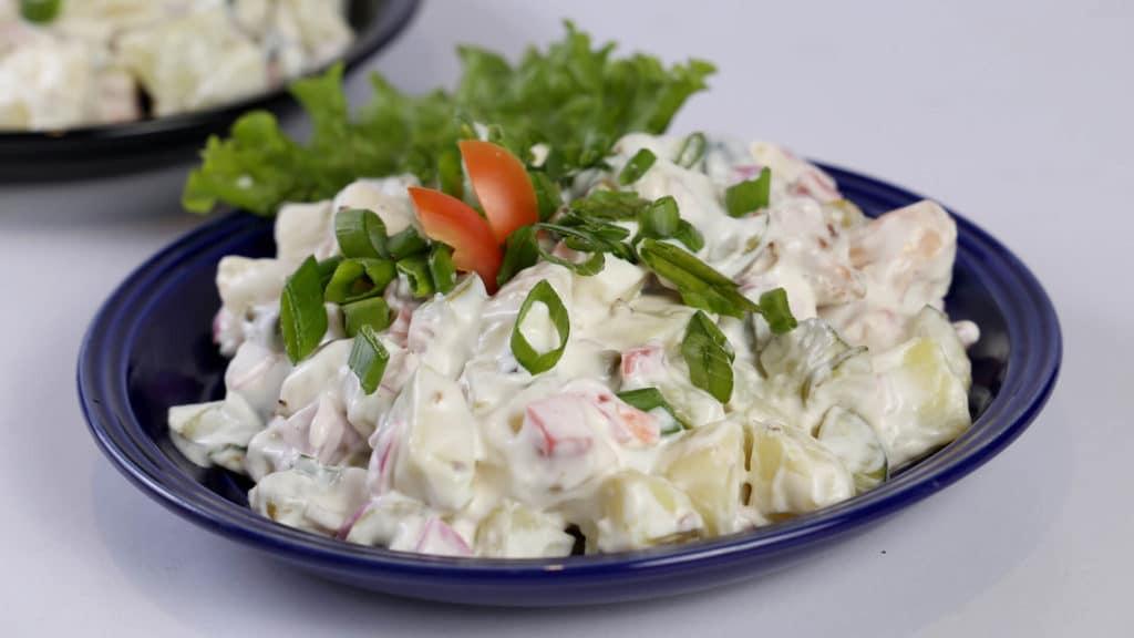 Hot Pickled Potato Salad   Quick Recipe