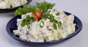 Hot Pickled Potato Salad | Quick Recipe