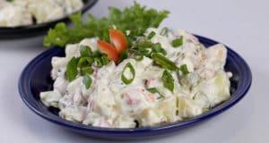 Hot Pickled Potato Salad | Quick Recipe