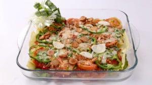 Lasagna Pizza Pie Recipe | Dawat