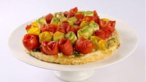 Vegetable Rose Tart Recipe | Dawat
