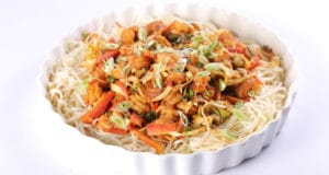 Spicy Shrimp Chow Mein Recipe | Tarka