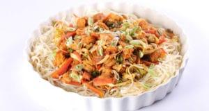 Spicy Shrimp Chow Mein Recipe | Tarka
