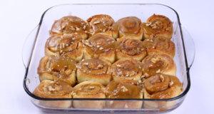Caramel Cinnamon Rolls Recipe | Lazzat
