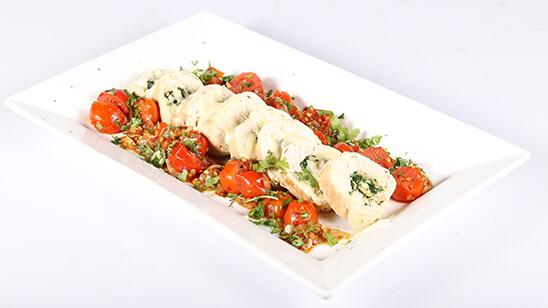 Chicken & Spinach Roulade Recipe   Dawat
