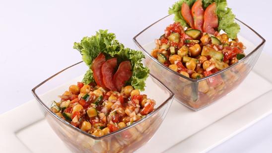 Chickpea Salsa Salad Recipe | Lazzat
