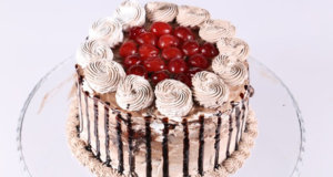Chocolate Cherry Drip Cake Recipe | Dawat
