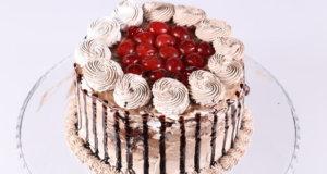 Chocolate Cherry Drip Cake Recipe | Dawat