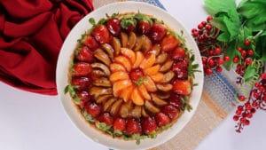 Rainbow Fruit Tart Recipe | Dawat