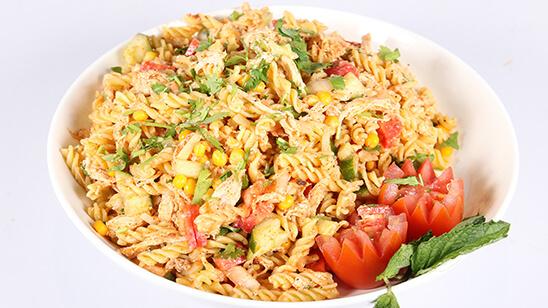Sweet Corn Pasta Salad Recipe | Tarka