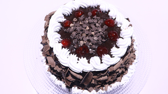 Double Chocolate Black Forest Cake Recipe | Dawat