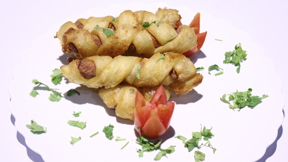 Twisted Sausages Recipe | Dawat