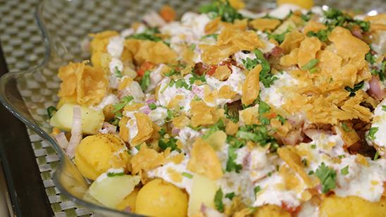 Dahi Bondi Chaat Recipe | Dawat