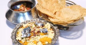 Puri Mawa Halwa Recipe | Tarka
