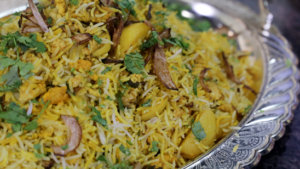 Chicken Qeema Biryani Recipe | Tarka