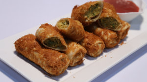 Fried Kabab Rolls Recipe | Flame On Hai