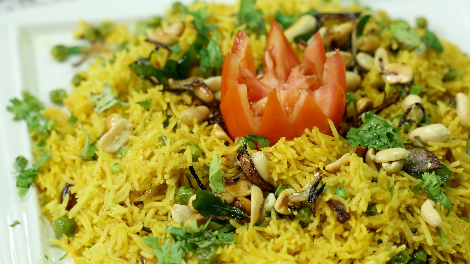 Spicy Peanut Rice Recipe | Rida Aftab