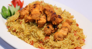 Tomato Chicken Pulao with BBQ Chicken Skewer Recipe | Masala Mornings