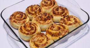 Savoury Chicken and Cheese Swirls Recipe | Lazzat