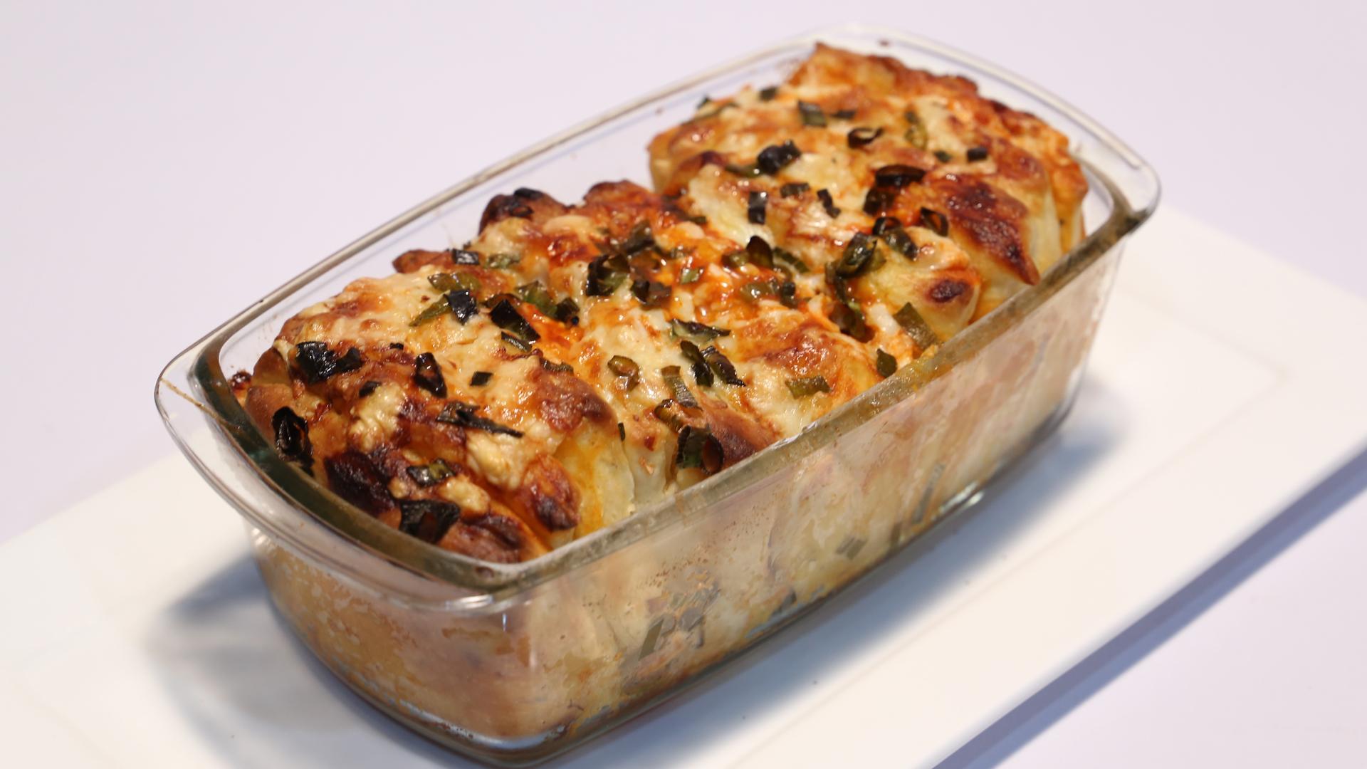 Buffalo Chicken Pull-Apart Bread Recipe | Lazzat