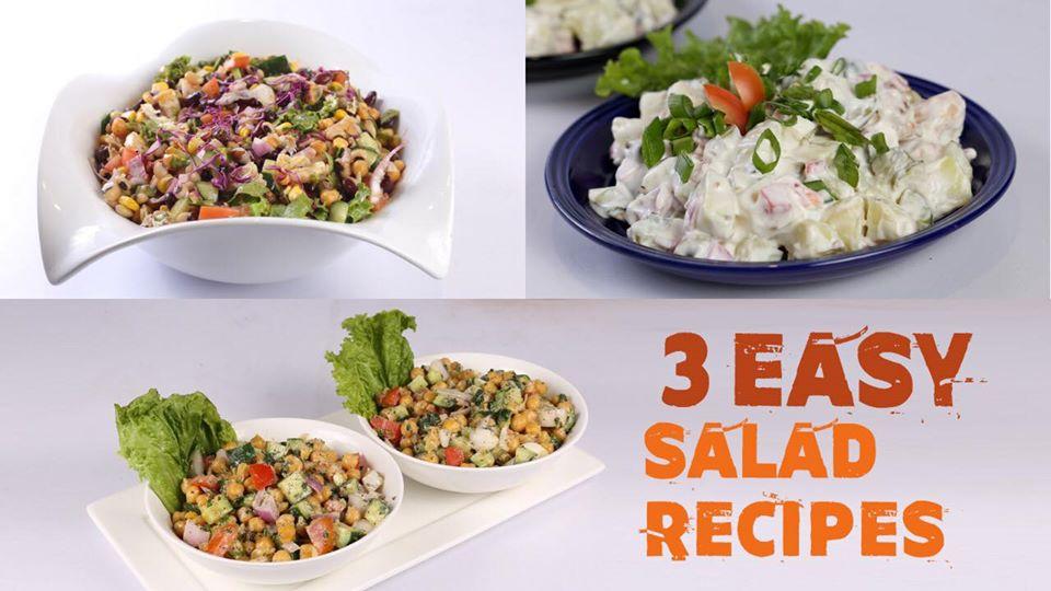 3 Easy Salad Recipes | Quick Recipes