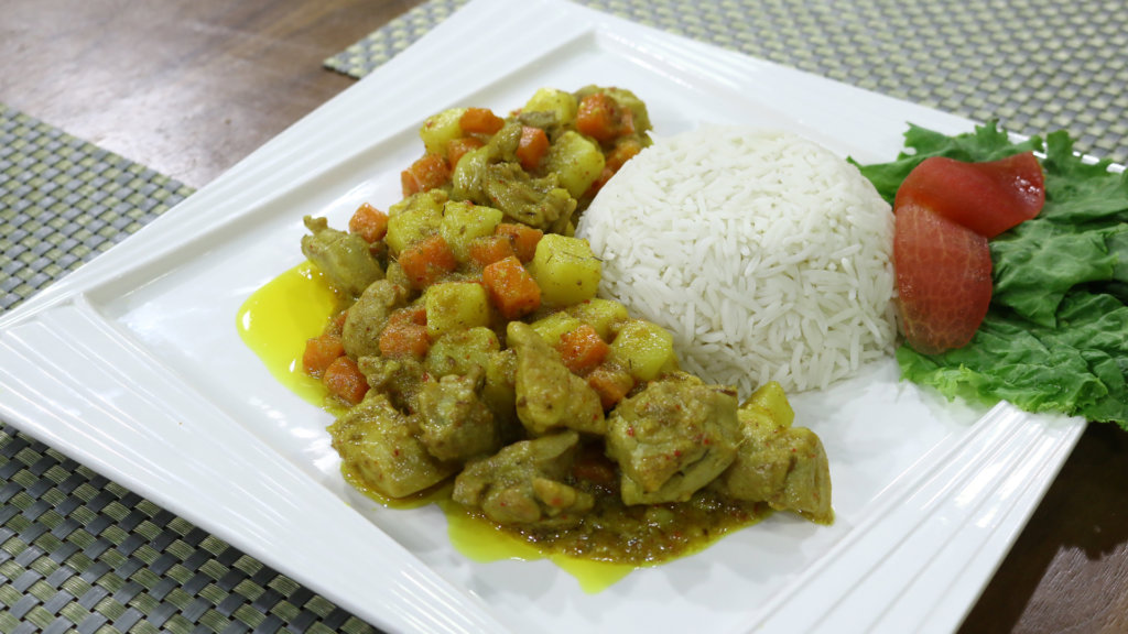 Classic Yellow Chicken Curry Recipe | Flame On Hai