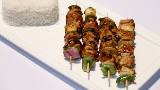 Hawaiian Chicken Skewers Recipe | Lazzat