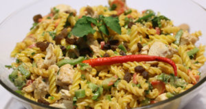 Bombay Chicken Pasta Salad Recipe | Tarka