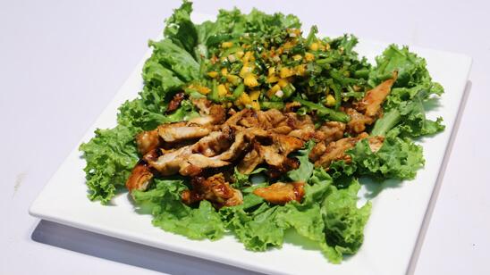 Chicken Salad with Mango Salsa Recipe | Food Diaries
