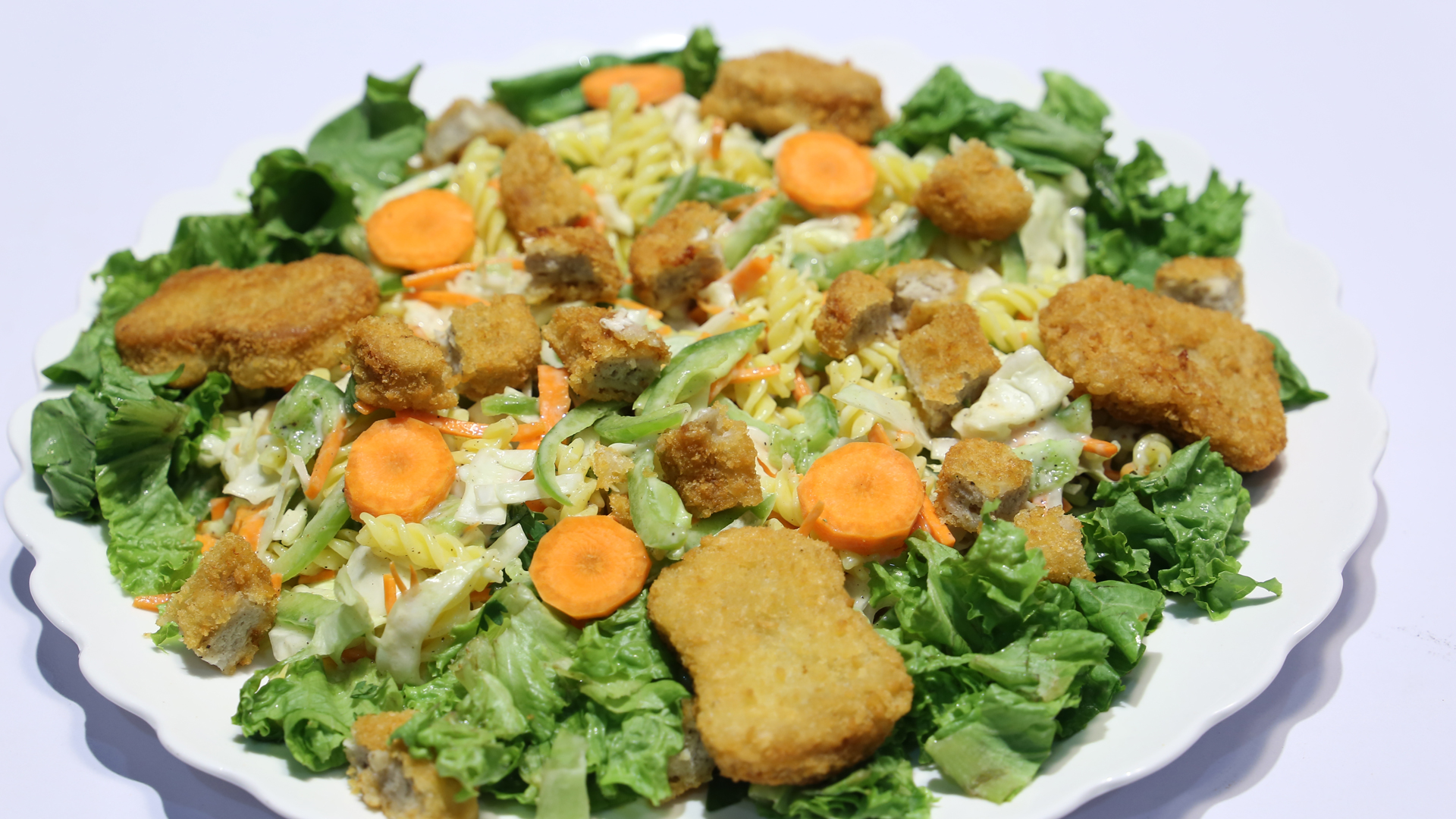 Chicken Almond Salad Recipe | Tarka